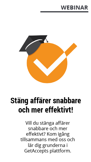 Webinar med GetAccept - Stäng fler affärer