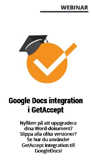 Webinar med GetAccept - Google Docs integration