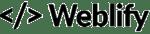 Weblify black logo