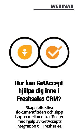 Webinar med GetAccept - Freshsales CRM