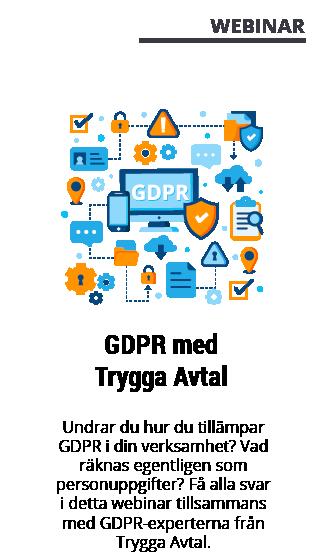 Webinar med GetAccept - Trygga Avtal GDPR